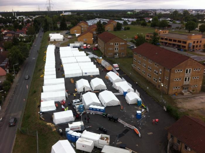 Reservisten helfen Flüchtlingen
