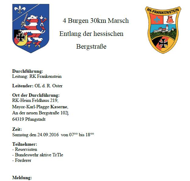 Bericht des 4 Burgen Marsches